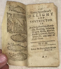 Very Rare Angling Classic: Young Sportsman's Delight and Instructor  circa 1712