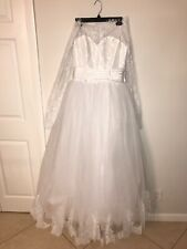 Wedding Dresses Bridal Ball Gowns Princess Off Shoulder Sweetheart Lace Size 8