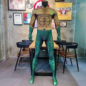 Aquaman Jumpsuit Costume Cosplay Suit Halloween BodySuit