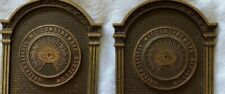 Vtg Copper Book Ends University of Wisconsin