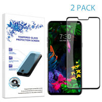 2-Pack For LG G8 ThinQ Full Cover Tempered Glass Screen Protector -Black