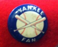 New listing Older Yankee Fan Pinback Button 3/4 Inch