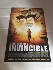 Mark Wahlberg Signed Movie Poster: Invincible 12 X 18 Autographed In Person