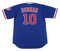LEON DURHAM Chicago Cubs 1984 Majestic Cooperstown Throwback Baseball Jersey