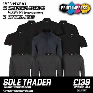 Logo Embroidered Workwear Bundle | Sole Trader Bundle | Polo Shirts | Sweatshirt