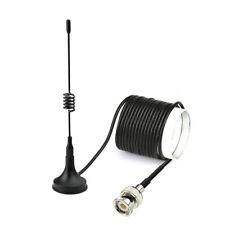Dual Band VHF UHF 144/430MHz Ham Amateur Radio Antenna with BNC 3M Magnetic Base