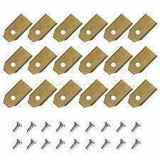 18X Titanium Coated 0.6mm Lawnmower Blades Replace For Auto-mower 320/330X/220AC