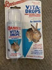 Oasis Rabbit Vita Drops 2 OzConsistent Source Nutritional Supplements Exp 3/20