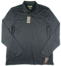 TASSO ELBA Black Long Sleeve Rugby Polo Shirt NEW Large L