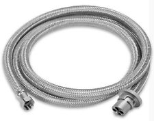 Stainless Steel Weber Q to Caravan gas bayonet hose,  2m replaces PN. HR10010