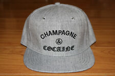 3cd95e80abbe4 Crooks and Castles Cocaine   Caviar Champagne Snapback Dad Hat Cap Gray New