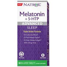 NATROL -�Advanced Sleep Melatonin+ 5-HTP - 60 Bi-Layer Tablets
