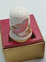 Vintage Caverswall Porcelain Thimble  - Diary of an Edwardian Lady  - March