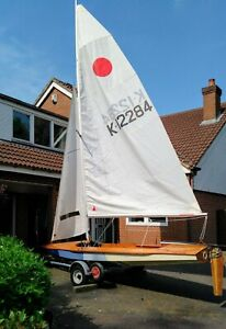 Fireball Dinghy with cover, launching trolley and road trailer