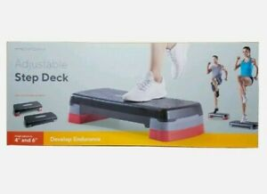 """Pro-Form Adjustable Step Deck with Non-Slip Surface Cardio Exercise 4"""" to 6"""""""