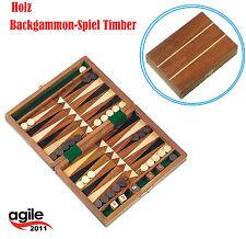 Backgammon 18x13x3,5Cm Holzkiste -Spiel Timber Tavla Handarbeit Mini