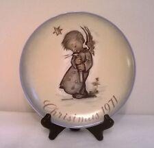 "Hummel Christmas Plate "" Heavenly Angel"" 1St Edition 1971"