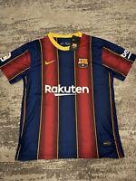 Barcelona FC 2020-2021 La Liga Home Football Soccer Jersey Mens Jersey. Medium