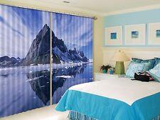 3D Shadow Hills Blockout Photo Rideau impression Rideaux Rideaux Tissu fenêtre UK
