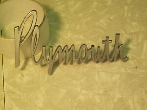 1963 1964 PLYMOUTH FENDER NAME PLATE 63 SAVOY 64 PLYMOUTH