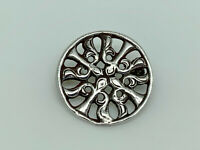 Gorgeous WH Darby Vintage 1961 Sterling Silver Unusual Iona Celtic Design Brooch