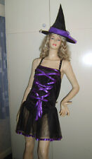 Ladies Sexy Gothic Balerina Witch Fairy Fancy Dress Costume 10-12 USED