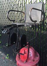 VINTAGE Black LECO Bicycle CHILD Carrier Seat ENGLAND Raleigh RUDGE Tweed Run