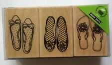 """Hero Arts Wood Mounted Rubber Stamp Set """"SHOES"""" New*"""