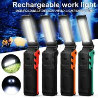 90000LM Rechargeable COB LED Torch Flashlight Work Light Lamp Magnet Power  L