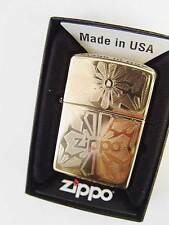 Zippo® Zippo golden Ornament Brass high polished  New Neu OVP