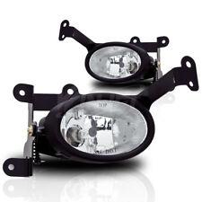 For 2006-2008 Honda Civic 2 Door Coupe Chrome Housing Clear Lens Fog Light Lamp