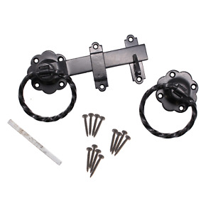 Twisted Ring Gate or Door Latch Set Seriously Twisted BLACK