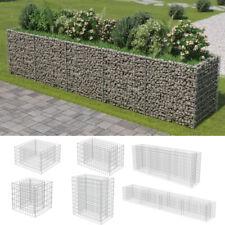 More details for stone basket raised bed gabion planter galvanised steel vegetable cage fence uk