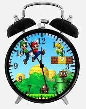 "Super Mario Game Alarm Desk Clock 3.75"" Home or Office Decor W164 Nice For Gift"