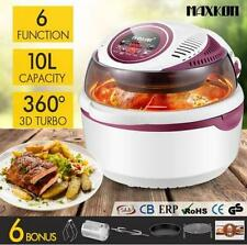 1300W 10L 6 IN 1 Digital Turbo Low Oil Air Fryer Convection Oven Cooker Peach