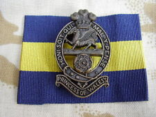 British Army PWRR Princess Of Wale's Royal Regiment Cap/Beret Badge+Ribbon Flash
