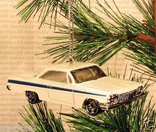 1962 CHEVY BUBBLE TOP Chevrolet CHRISTMAS ORNAMENT White rare XMAS