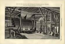 1884 girevole FRASSINO NERO FORNO Widnes alcali Works