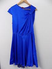 Hugo Boss blue silk evening - occasion dress size 10 BNWT FREE UK PP RRP 549 TAG