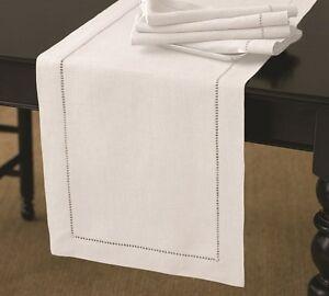 RANS Elegant Hemstitch Table Runner 100% Cotton
