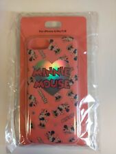 Disney Store Japan iPhone 6/6s/7/8 Minnie Mouse Hars coral Case Cover