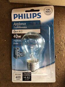 Philips 299990 BC-40A15LL 120V 40W Med Base Clear Appliance Bulb