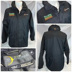 Moonstone SoBe Headshok Gore-Tex Jacket M Men Black Full Zip Hood EUC YGI H0-150