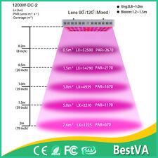 Bestva 1200W  Plus LED Grow Light Panel Full Spectrum For Indoor Plant Veg-Bloom