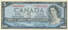 CANADA REPLACEMENT 5 DOLLARS 1954 BC39bA *SS0205432 - VF