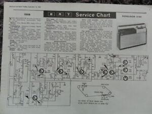 Ferguson 3140 Portable Transistor radio receiver Service manual