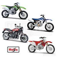 Maisto 1/12 Scale Motorcycles Diecast Model Honda Kawasaki Yamaha Motorbikes