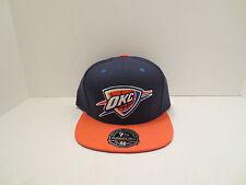 MITCHELL & NESS NBA OKLAHOMA CITY THUNDER 2 TONE BASIC FITTED CAP HAT SIZE 7 5/8