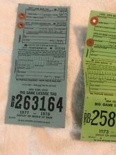 New York State Vintage Hunting License Tag Collection
