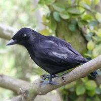 Halloween Feathered Crow Raven Movie Props Fancy Dress Hunting Blackbird Decor-W